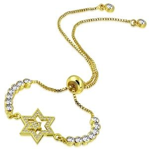 Jewelry - Gold Color Plated Copper Double Star Box Link